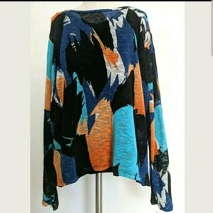 Chelsea & Theodore Sweater Top Multicolor Lined